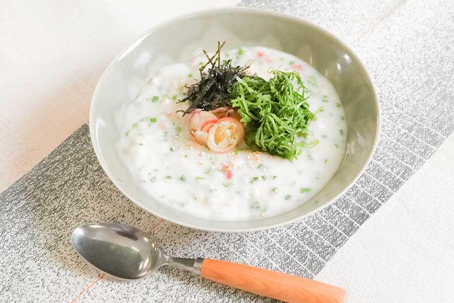 クリーム系スープの素で作るクリームリゾット【写真提供:温朝食ラボ】