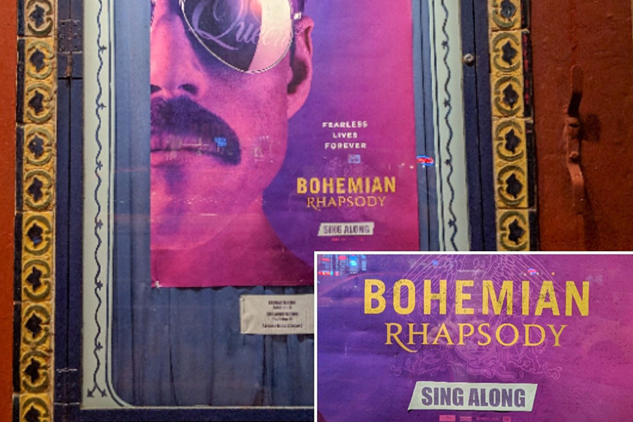 上映日のポスターには「SING ALONG」と記載されている。いつかプレミアがつく日がくるかも!? 【写真:パツワルド敬子】