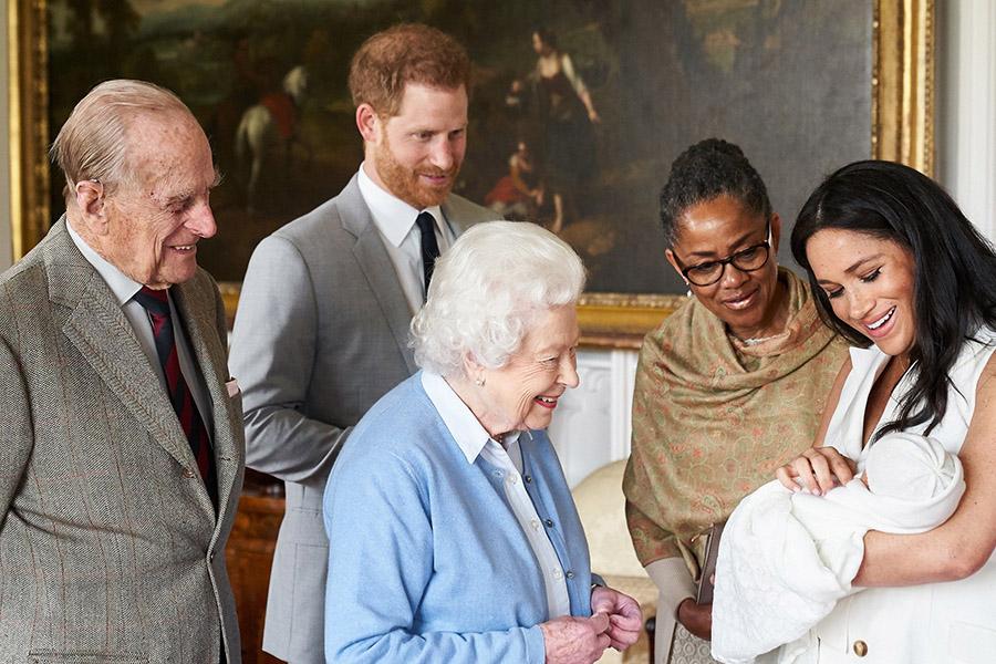 ひ孫の誕生を喜ぶエリザベス女王【写真:Getty Images】