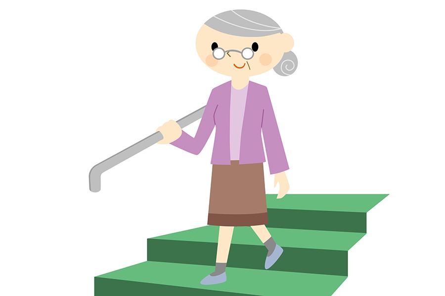 日常的に階段を下りることで健康効果が期待できる【写真:photolibrary】
