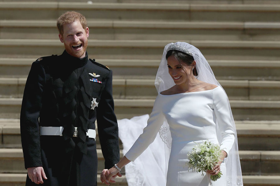 ヘンリー王子とメーガン妃【写真提供:BANG SHOWBIZ】