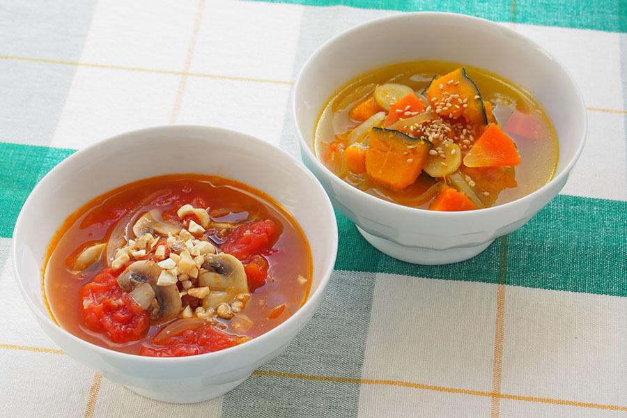 簡単でおいしいスープ2品【写真:市川千佐子】