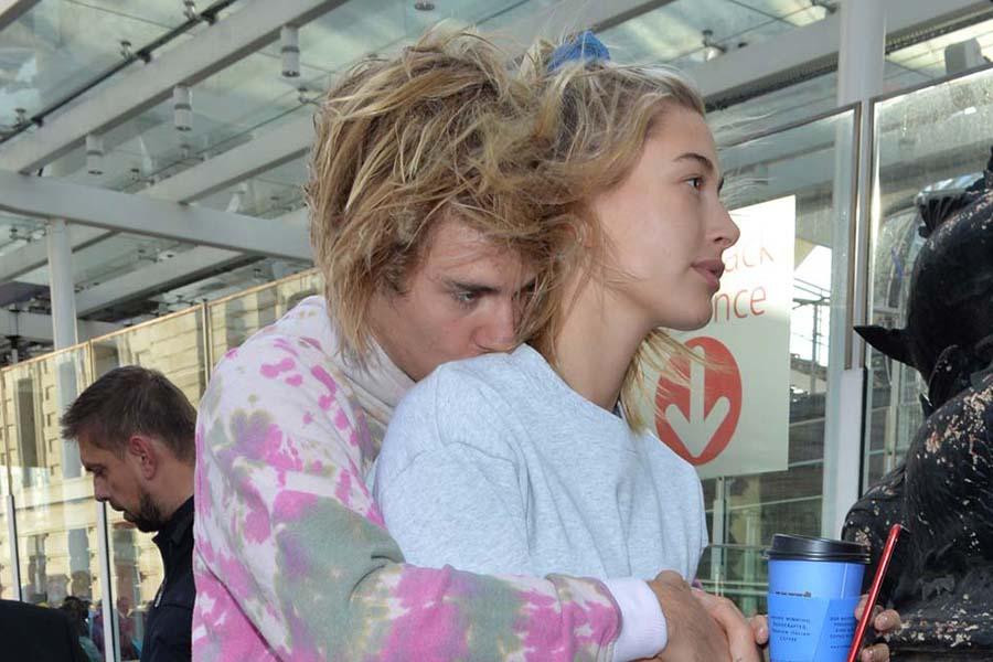 ジャスティン・ビーバーと妻のヘイリー【写真:BANG SHOWBIZ】