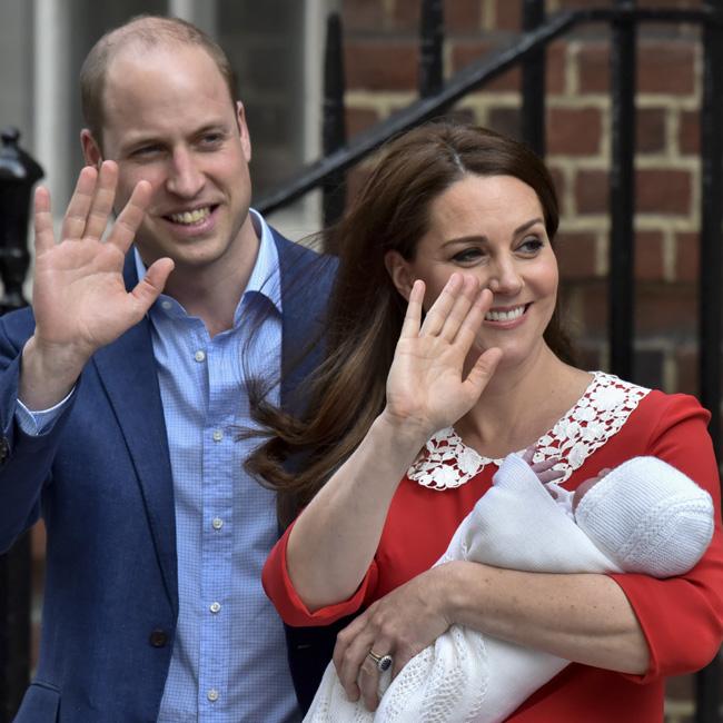 ウィリアム王子、キャサリン妃、ルイ王子【写真提供:BANG SHOWBIZ】