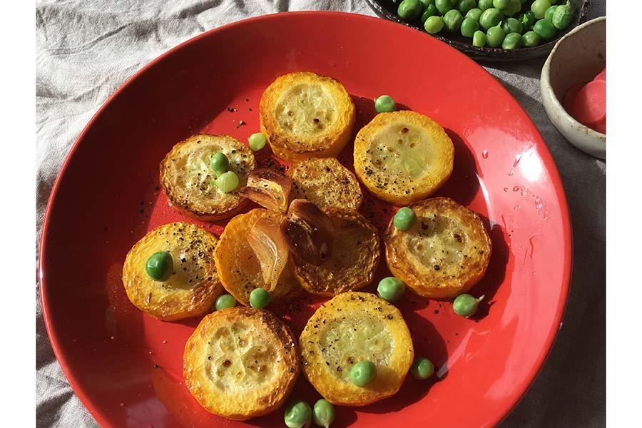 これからおいしい旬野菜・黄色ズッキーニ【写真提供:こばやしなつみ】