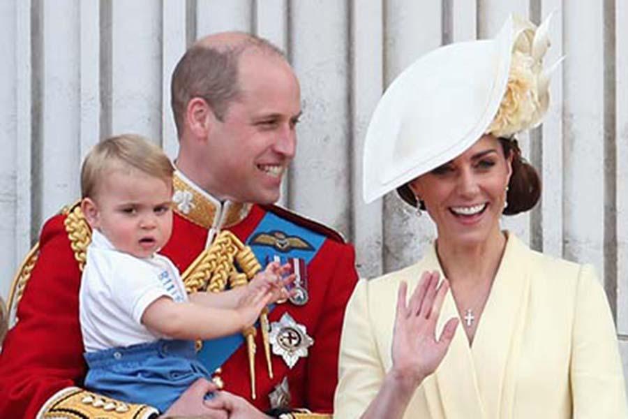 ケンブリッジ公爵夫妻とルイ王子【写真:GettyImages】