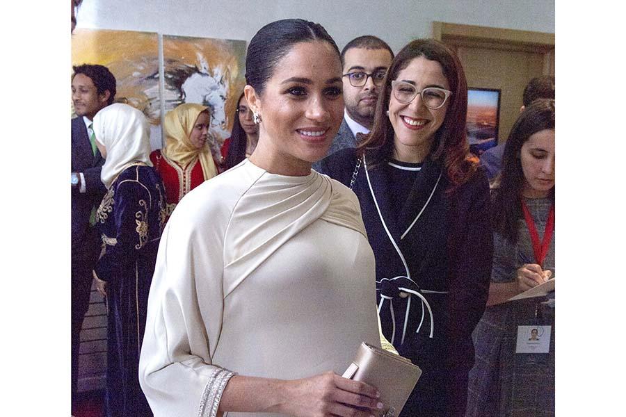 モロッコ訪問時のメーガン妃【写真:Getty Images】