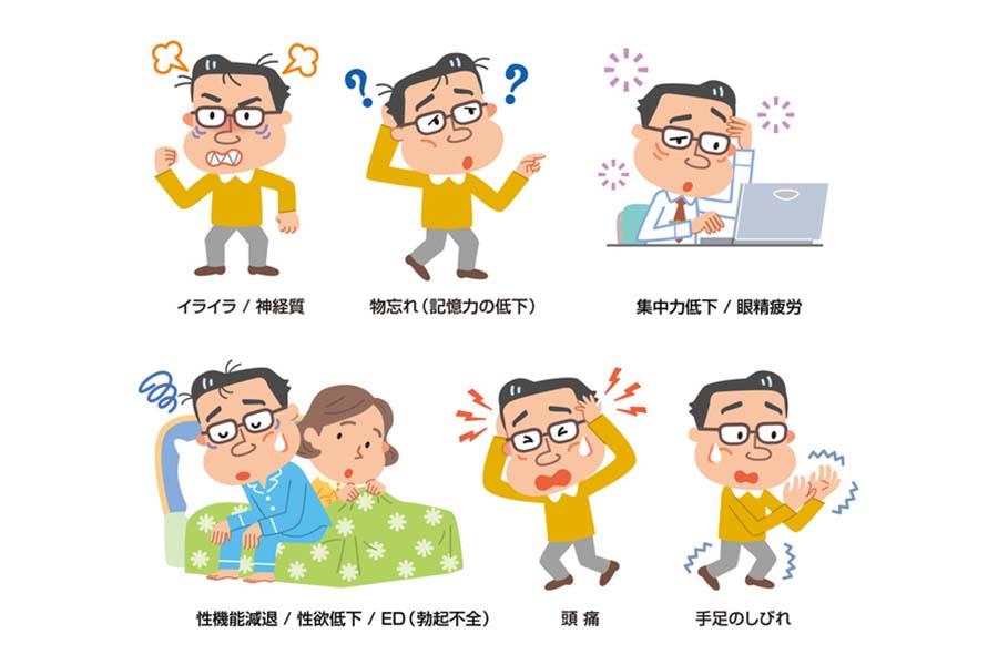 男性更年期障害のさまざまな症状【写真:フォトライブラリー】