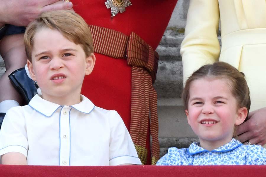 ジョージ王子とシャーロット王女【写真:Getty Images】