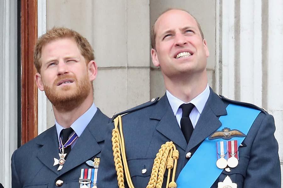 ウイリアム王子(右)とヘンリー王子(左)【写真:Getty Images】
