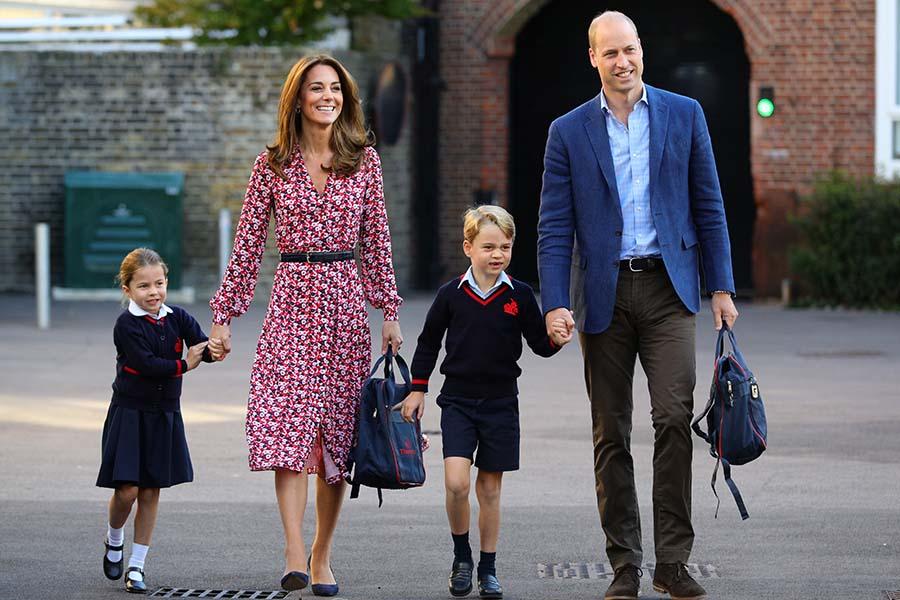 シャーロット王女の初登校の様子【写真:Getty Images】