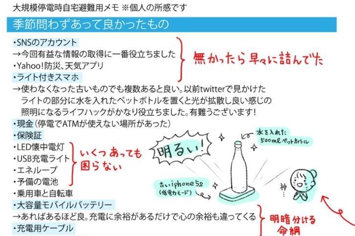 まーぼーさんのイラスト付きメモの一部【画像提供:まーぼー(@mabo_twit)さん】