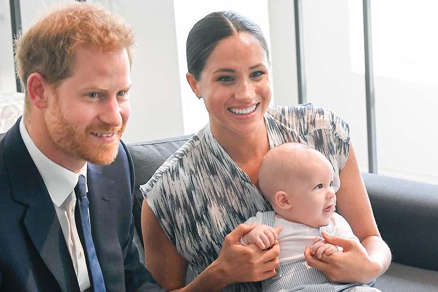 ヘンリー王子とメーガン妃、長男アーチーくん【写真:Getty Images】