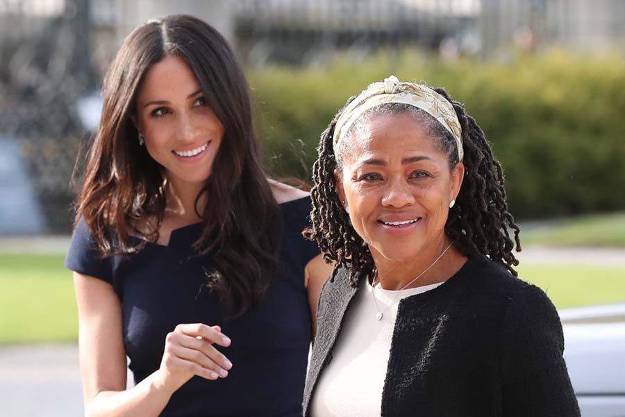 メーガン妃と実母ドリアさん【写真:Getty Images】