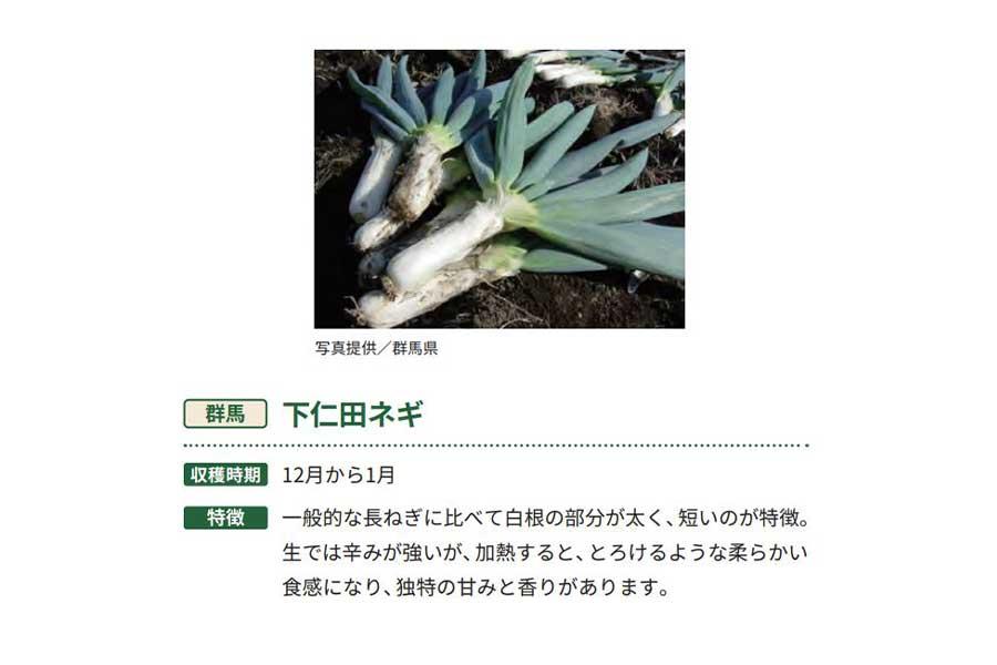 下仁田ネギ【出典:農林水産省「冬野菜」より作成】