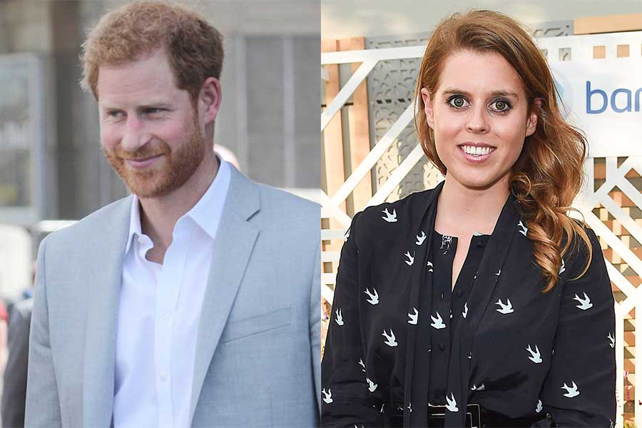 ヘンリー王子とベアトリス王女【写真:Getty Images】