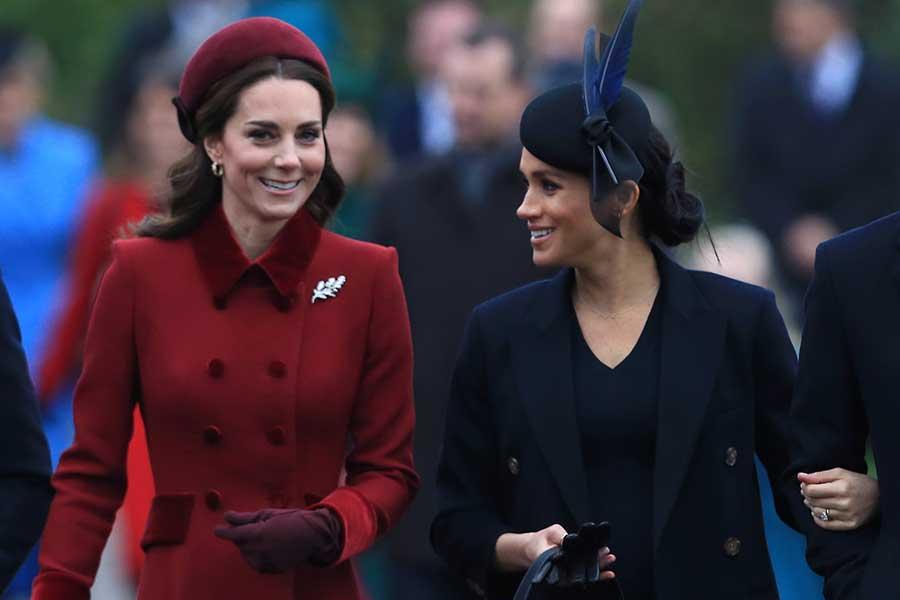 キャサリン妃とメーガン妃【写真:Getty Images】
