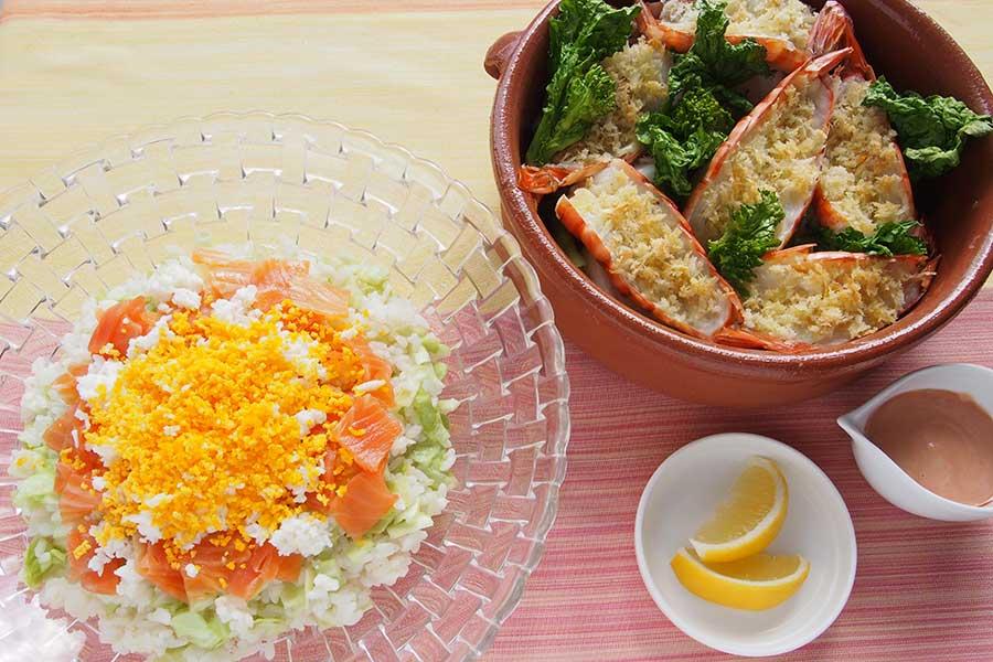 春野菜も一緒にいただく2品【写真:市川千佐子】