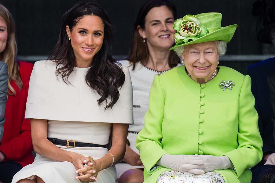 メーガン妃とエリザベス女王【写真:Getty Images】