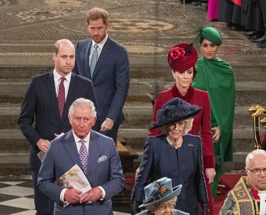 最後の公務となった「コモンウェルス・デー」の式典。険しい表情で前を睨みつけている【写真:Getty Images】