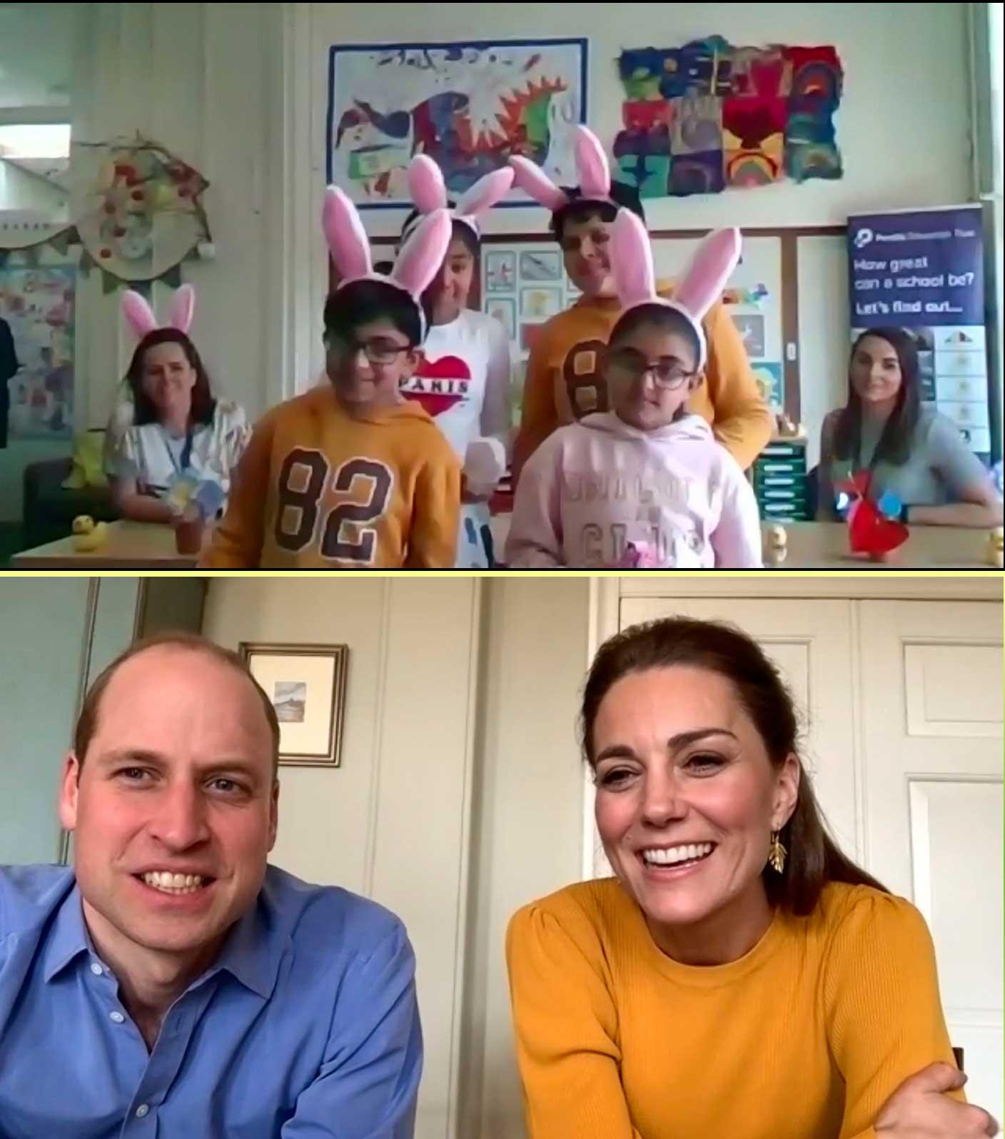 ウイリアム王子とキャサリン妃が行ったビデオ通話の実際の様子【写真:AP】