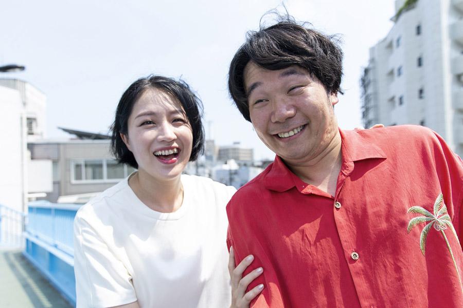 犬山紙子さんと夫の劔樹人さん【写真提供:扶桑社】