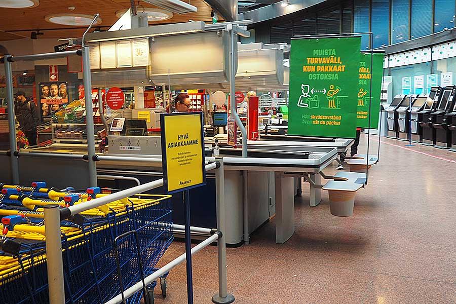 フィンランドの首都ヘルシンキのスーパーマーケットの様子【写真:吉田実】