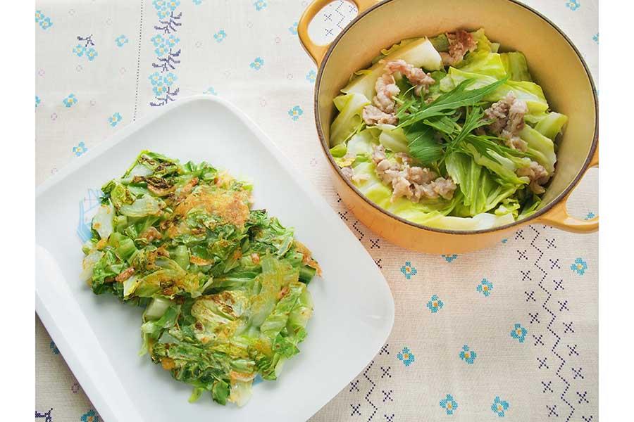 キャベツは部位ごとに料理するのがおいしく食べるコツ【写真:市川千佐子】