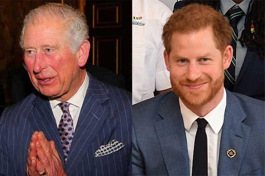 チャールズ皇太子とヘンリー王子【写真:Getty Images】
