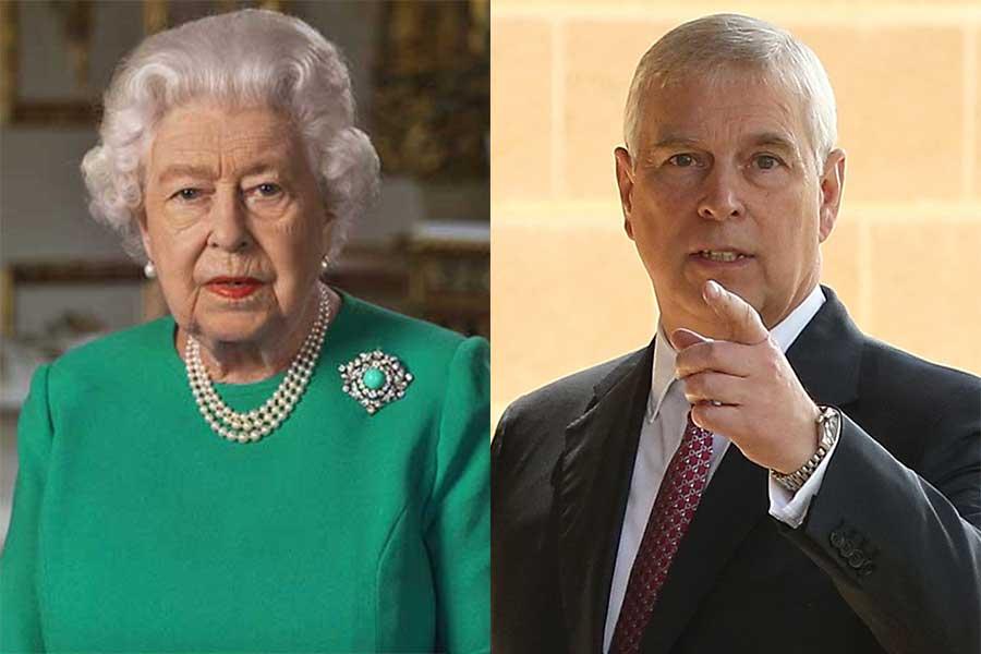 エリザベス女王とアンドリュー王子【写真:AP、Getty Images】