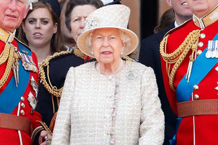昨年の「トゥルーピング・ザ・カラー」に登場したエリザベス女王【写真:Getty Images】