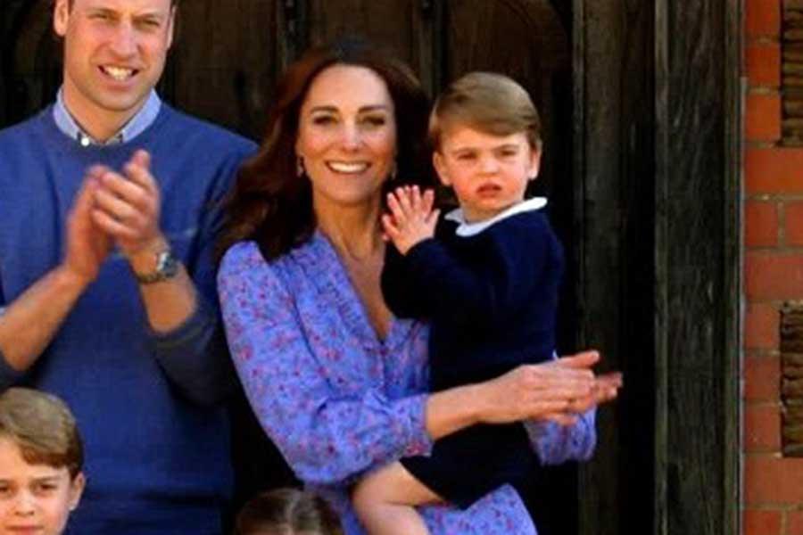キャサリン妃とルイ王子【写真:Getty Images】