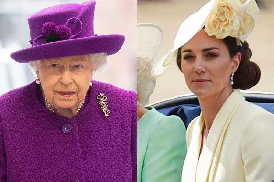エリザベス女王とキャサリン妃【写真:Getty Images】