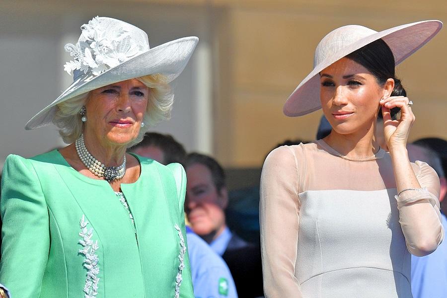 カミラ夫人とメーガン妃【写真:Getty Images】