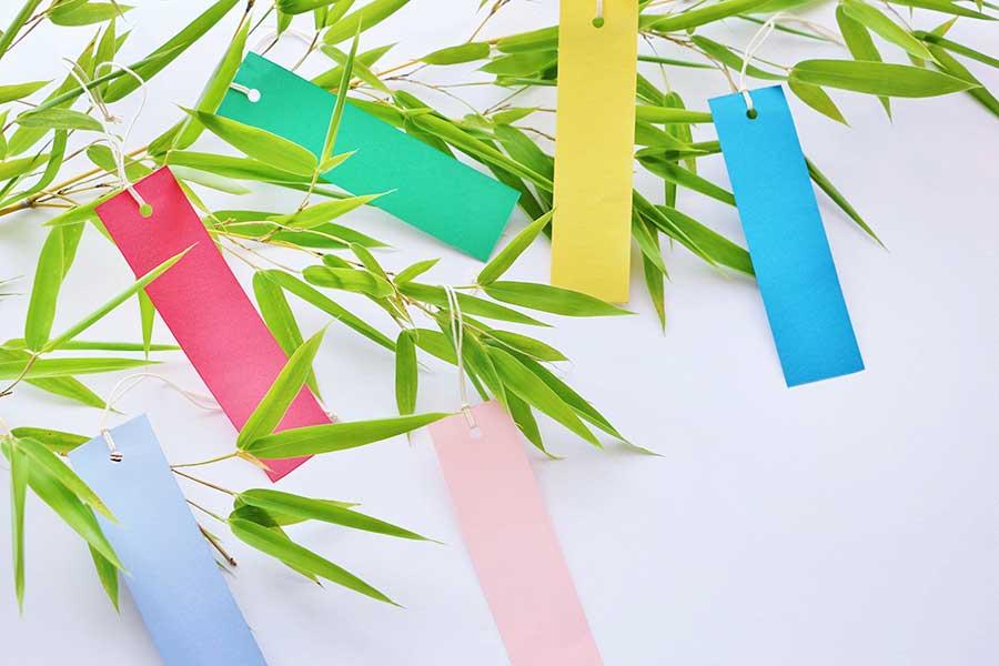 笹飾りの定番、短冊。その色にも意味があった!?(写真はイメージ)【写真:写真AC】