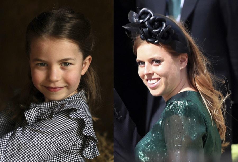 シャーロット王女とベアトリス王女【写真:AP】
