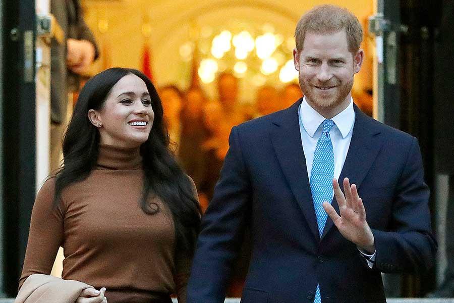メーガン妃とヘンリー王子【写真:AP】