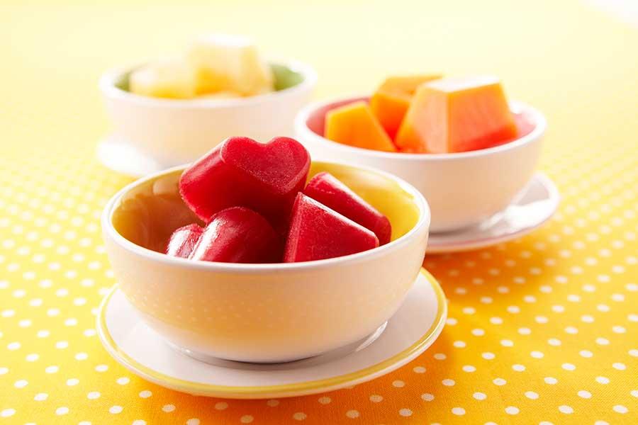 野菜のジュースでひんやりスイーツ【写真提供:カゴメ】