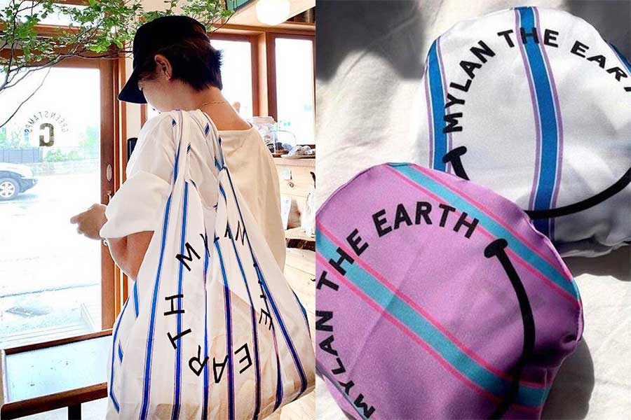"""「MYLAN」(マイラン)の""""Eco Bag""""【写真提供:chii(chii__m)さん】"""