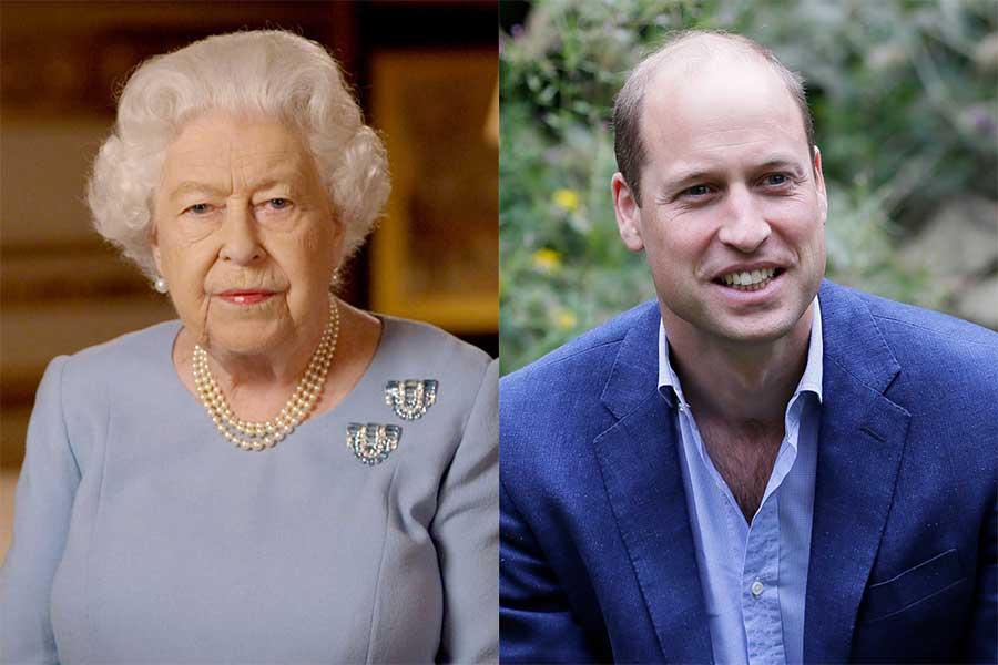 エリザベス女王とウイリアム王子【写真:AP】