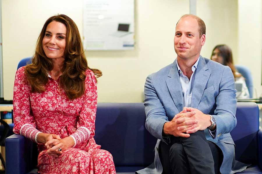 キャサリン妃とウイリアム王子【写真:AP】