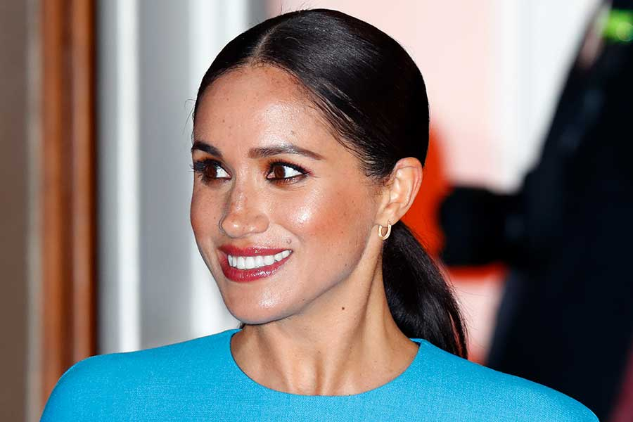 ポニーテールなど、以前からさまざまなヘアスタイルを披露してきたメーガン妃【写真:Getty Images】