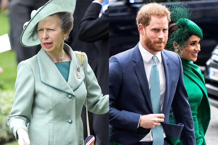 アン王女とヘンリー王子、メーガン妃【写真:Getty Images、AP】