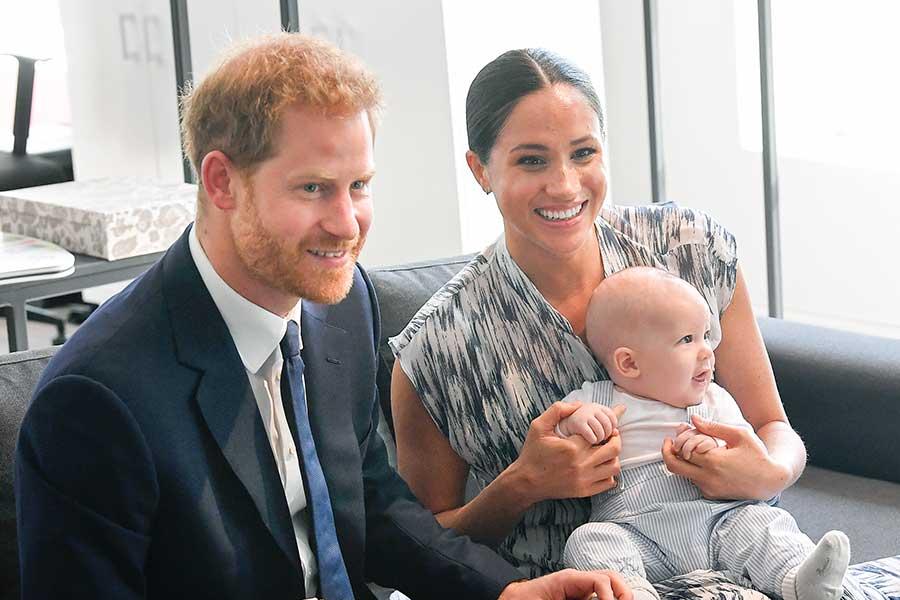 ヘンリー王子とメーガン妃、アーチーくん【写真:Getty Images】