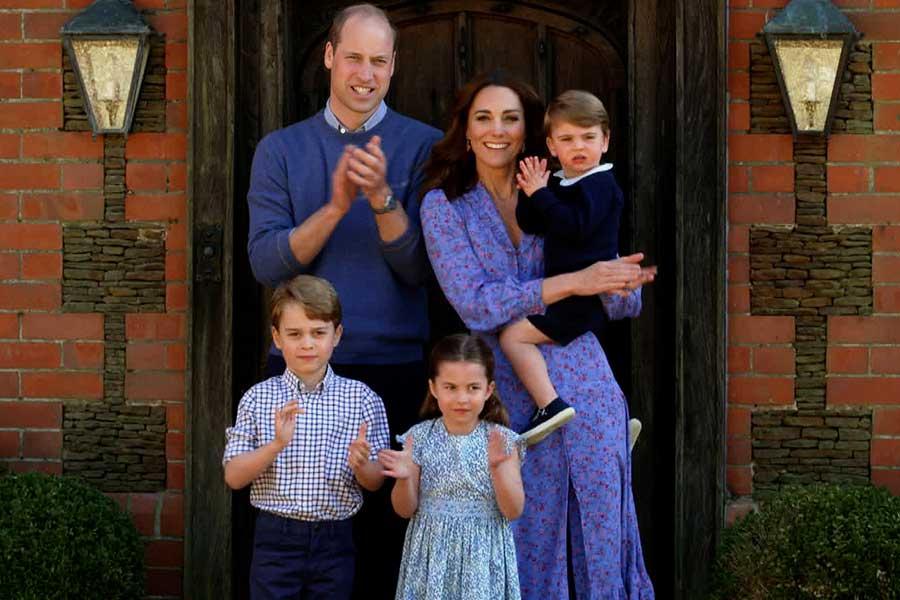 ウイリアム王子、キャサリン妃と3人の子どもたち【写真:Getty Images】
