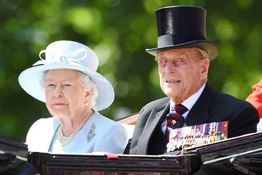 フィリップ殿下とエリザベス女王【写真:Getty Images】
