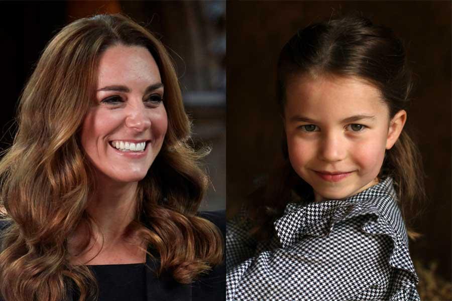 キャサリン妃とシャーロット王女【写真:AP】