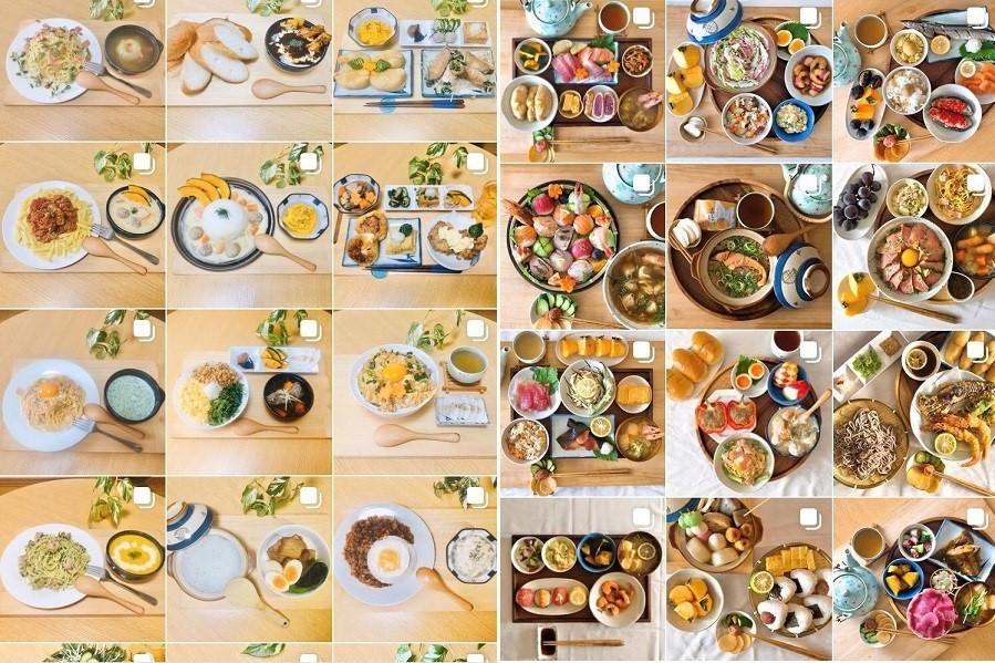インスタグラムで料理を投稿している男子大学生がツイートした話題の比較写真。左が半年前、右が最近の投稿【画像提供:ひろ(@hirosryouri)さん】