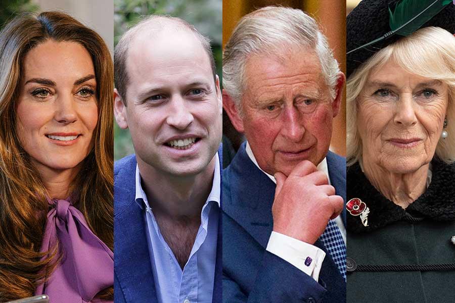 キャサリン妃、ウイリアム王子、チャールズ皇太子、カミラ夫人【写真:AP】