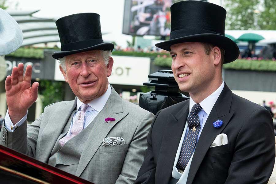 チャールズ皇太子とウイリアム王子【写真:Getty Images】